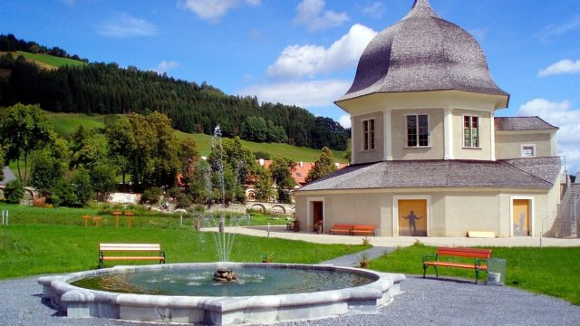 Springbrunnen Benedektinerstift St. Lambrecht