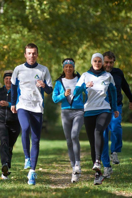 Laufübungen in der Gruppe
