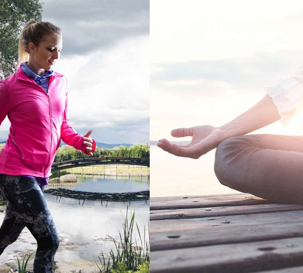 Alphalauf und Yoga